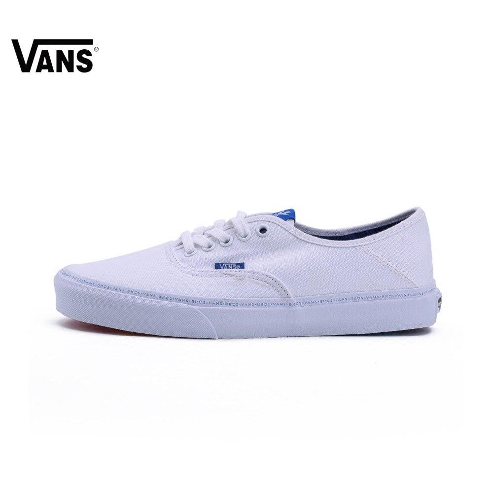 Original Vans Shoes X BROTHERS Unisex Rainbow Bottom White Skateboarding Shoes Sports Canvas Shoes Women Men Vans Sneakers