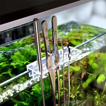 Aquarium Maintenance Tools Kit Tweezers Curve Scissor Storage Holder Fish Tank Water Plants Grass Stainless Steel Cleaning Tool