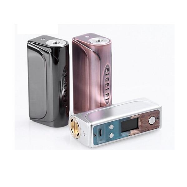 SIGELEI 66W BOX MOD vape mod Stable wood e Electronic Cigarette Sigelei Evaya 66W 0.91inches TFT screen vapor Hookah TC Mode