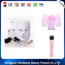 Soft Silicone Facial Brush Cleanser++Epilator Face Cleasing Brush+led facial mask