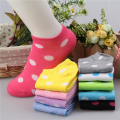 10 Colors Big Dots Women Cotton Sock Slippers Female Cute Candy Invisible Ventilate Boat Socks Low Ankle Hosiery For Woman Sock