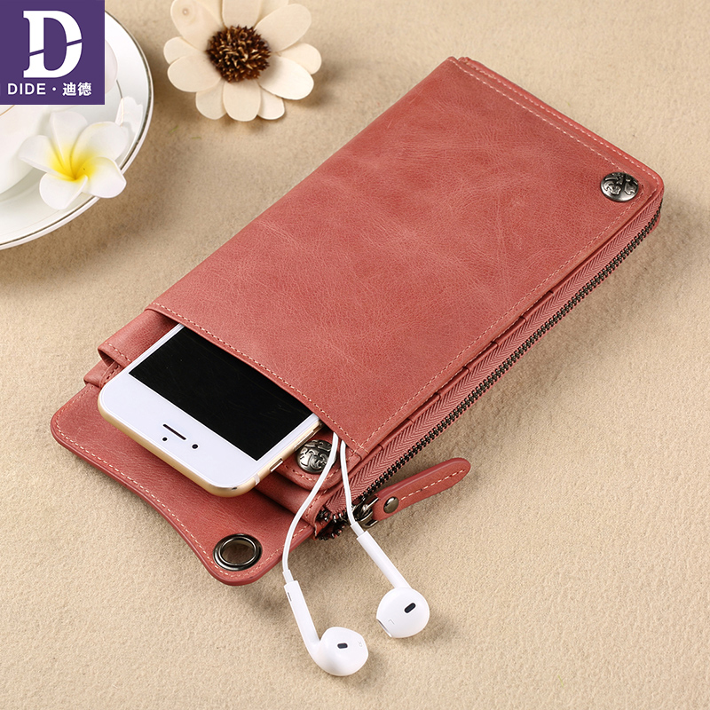DIDE Lovers Wallets New Fashion Women Wallet Female Genuine Leather mens Wallet Zipper Design With Coin Purse Long Clutch bag new pattern genuine leather women s short design wallet fashion classic ladies coin purse clutch female wallets cowhide