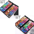 2 Sets/Lot Fashion 100 Colors Shimmer Eyeshadow Palette Women Cosmetic Matte Eyeshadow Money Clip Design Make Up Kit 2017 Spring