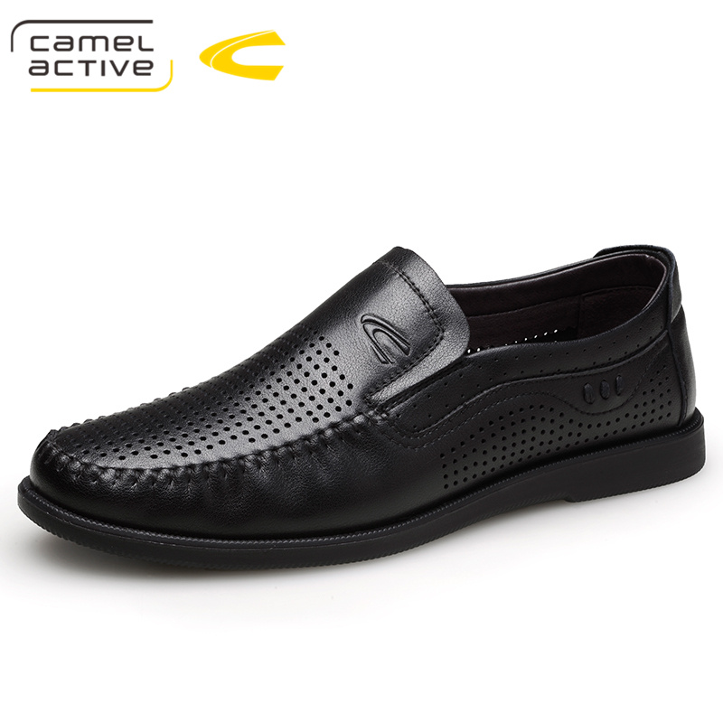 Camel Active Summer Breathable Men Casual Shoes Fashion Male Shoes High Quality Genuine Leather Shoes Slip On Leather Loafers все цены
