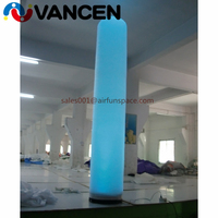 2.8mH inflatable tube with led light for decoration lows price lighting pillar inflatables high quality inflatable led tube