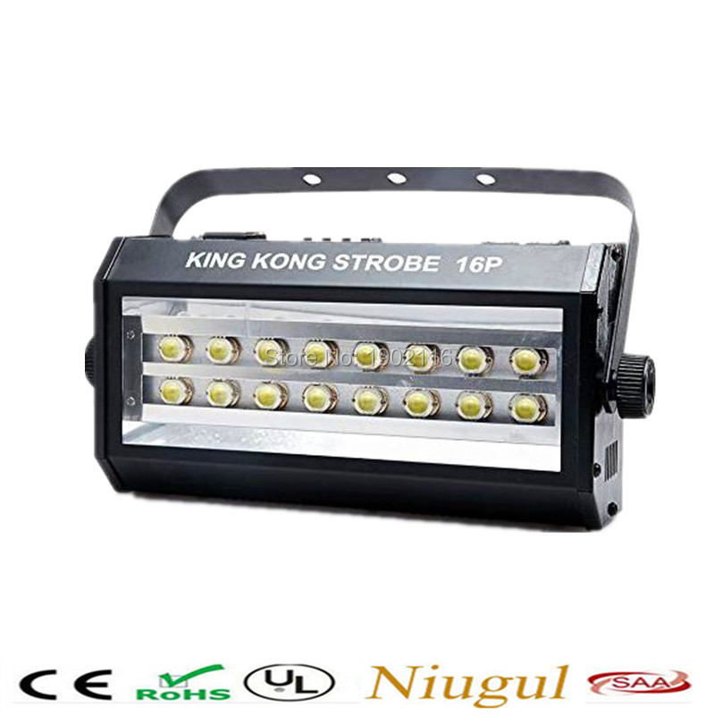High power 400W flash super bright DMX512 SOUND control 16 LED Stroboscope 400W Strobe Lamp Party Disco DJ Light strobe light kaish black p90 high power sound neck
