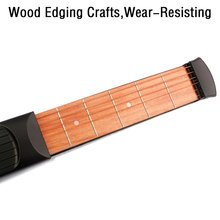 Pocket Acoustic Guitar Practice Tool 6 String Fingerboard 6 Fret Chord Trainer Portable Gadget