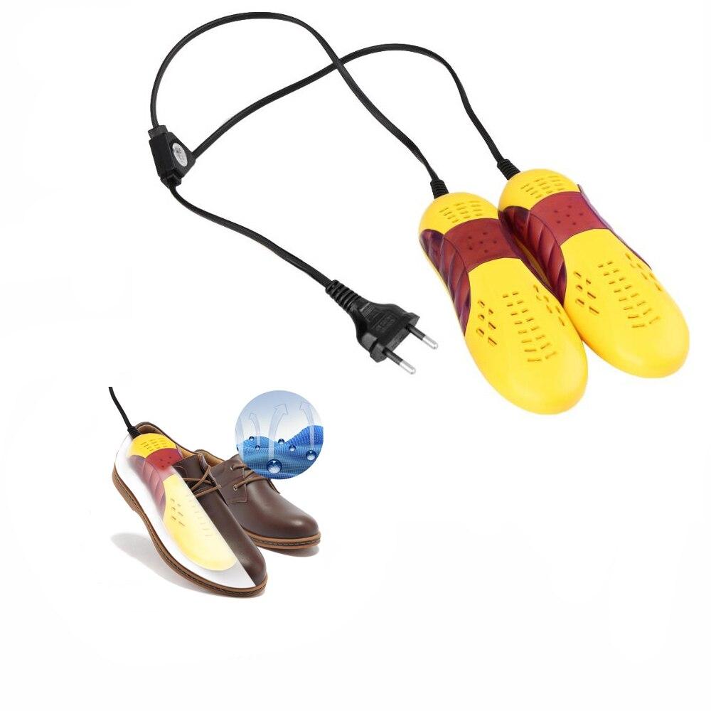 220 V 10 W EU/UE Plug forma de coche de carreras secador pie Protector Boot desodorante olor deshumidificar dispositivo zapatos secador calentador olor
