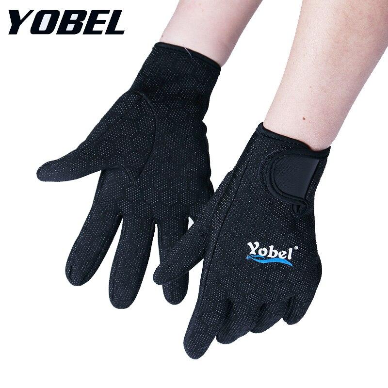 Бесплатная доставка Yobel 1.5 мм неопрена подводное плавание дайвинг перчатки Подводное плавание Водный Спорт теплом согреться Divingequipment