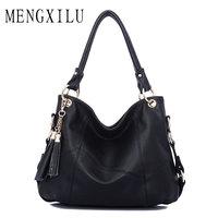 Large Leather Tote Bag Women Shoulder Bags Women Handbags 2017 Tassel Hobo Luxury Handbags Women Bags