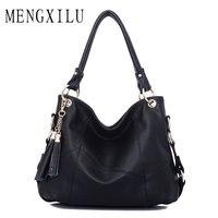 Large Leather Tote Bag Women Shoulder Bags Women Handbags 2017 Tassel Hobo Luxury Handbags Women Bags Designer High Quality Sac