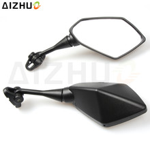 Universal Motorcycle Rearview Mirror CNC Aluminum Side Mirrors For Honda Kawasaki Suzuki GSX 600F Benelli BMW S1000RR Yamaha KTM universal cnc motorcycle aluminum rearview mirrors fit for suzuki yamaha etc red color