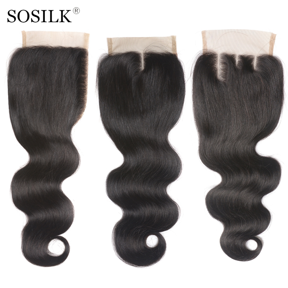 Malaysian Hair Closure Body Wave Hair Closure Free Middle Three Part Remy Malaysian Human Hair 4x4 Swiss Lace Top Closure(China)