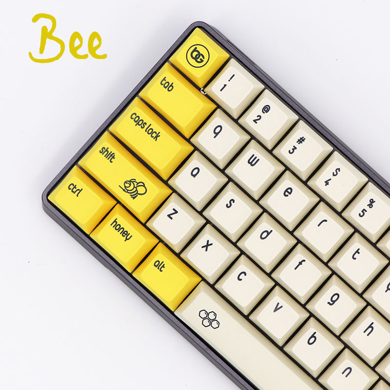 PBT Keycap Mechanical Keyboard Sublimation Cherry DSA Wired BGKC for USB Fonts Bee-Ethermal-Dye