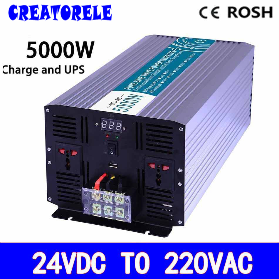 P5000-242-C off grid pure sine power UPS iverter dc12v to ac 220v 5000w soIar iverter voItage converter with charger and UPS p800 481 c pure sine wave 800w soiar iverter off grid ied dispiay iverter dc48v to 110vac with charge and ups