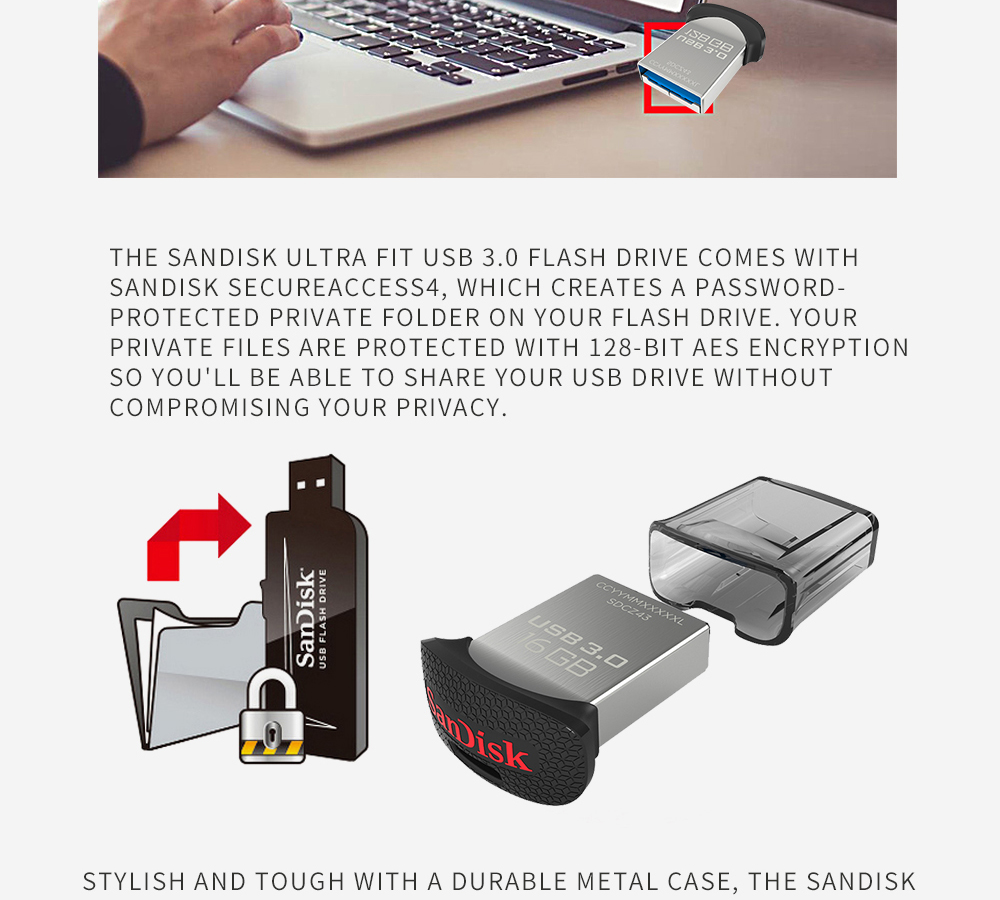 Sandisk Ultra Fit Usb 30 Flash Drive Up To 130m S Sdcz43 64gb 32gb Cz43 128gb Aeproductgetsubject