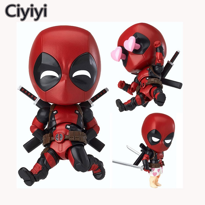 High Quality Cute Cartoon Deadpool Action Figure Toy Marvel X-man Cool Pose Deadpool Display Doll Collection Kids Juguetes Gift цена