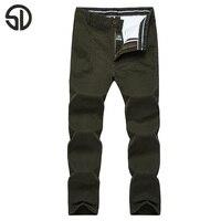 Épais automne hiver casual pantalon hommes vêtements de marque de haute qualité coton 2016 Nouvelle entreprise de mode masculine coton chino pantalon