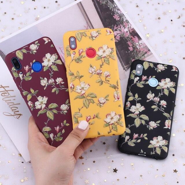 Para Xiaomi mi rojo mi nota 5 5 5 6 6 7 8 9 lite Pro Plus Vintage Floral flor arte dulces de silicona funda de teléfono cubierta Capa Fundas Coque