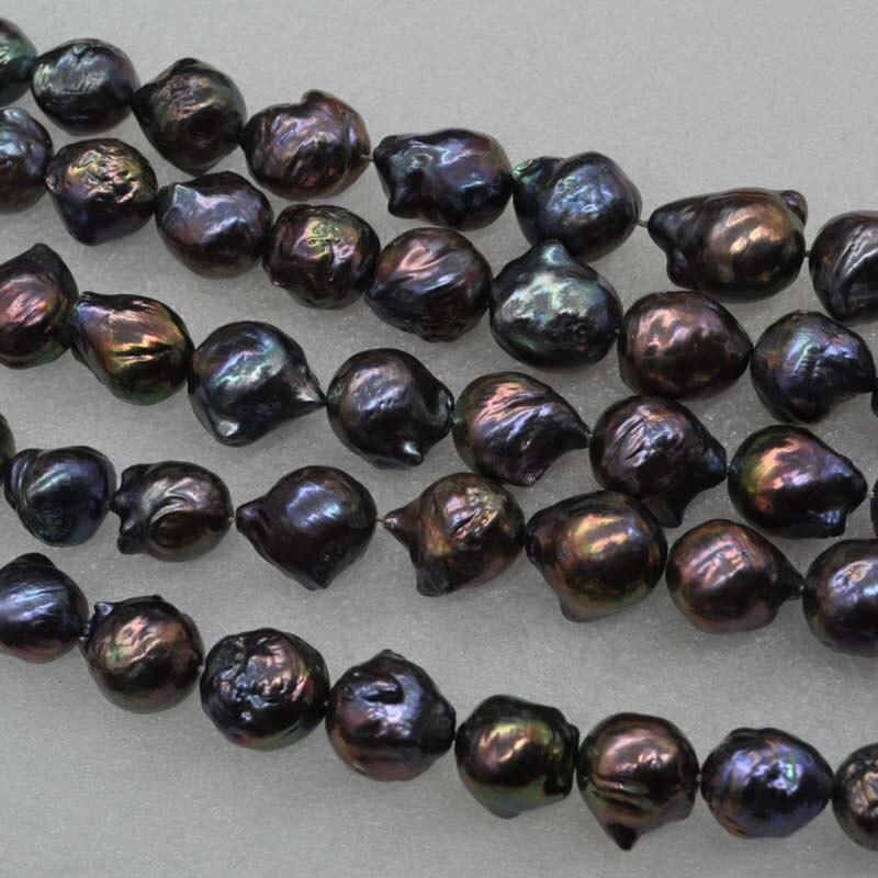Commercio all'ingrosso 1 strand 12 16mm nero reale d'acqua dolce della perla-in Perline da Gioielli e accessori su  Gruppo 2