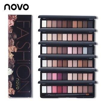 Novo NOVO Truecolor Ten-cor Fosca Pérola Placa Da Sombra de Olho Cosméticos Make-up Paleta de Cores Da Sombra de Olho Luz terno E Escova
