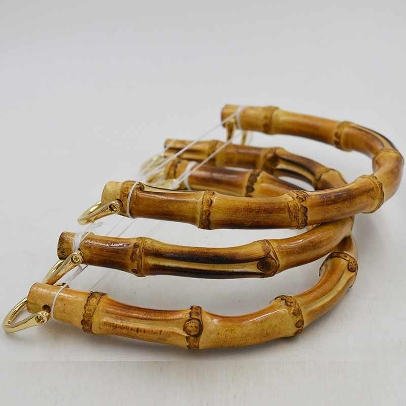 e00c20b0b5d7 ... Одна пара защелкивается бамбуковая ручка застежка сумка Рамка вешалка  diy части сумки ремешок бамбуковые ручки для ...