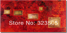 large canvas wall art Modern abstract red knife paint oil painting on canvas unframed for living room home decoration
