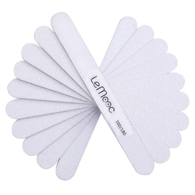 Lemooc 10/5/1 шт. Пилочки для ногтей 100 180 черный серый Цвет с двух сторон баф для полировки ногтей маникюр ногтей лак для ногтей, инструменты для макияжа