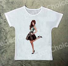 bde536e235f05 Suivre Ship + New Rétro Frais T-shirt Tee Mode Asie Jeune Fille Faire une