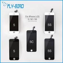 10 unids/lote a + de calidad para el iphone 5s digitalizador lcd asamblea reemplazo de la pantalla táctil a estrenar 100% probado para 5S envío gratis