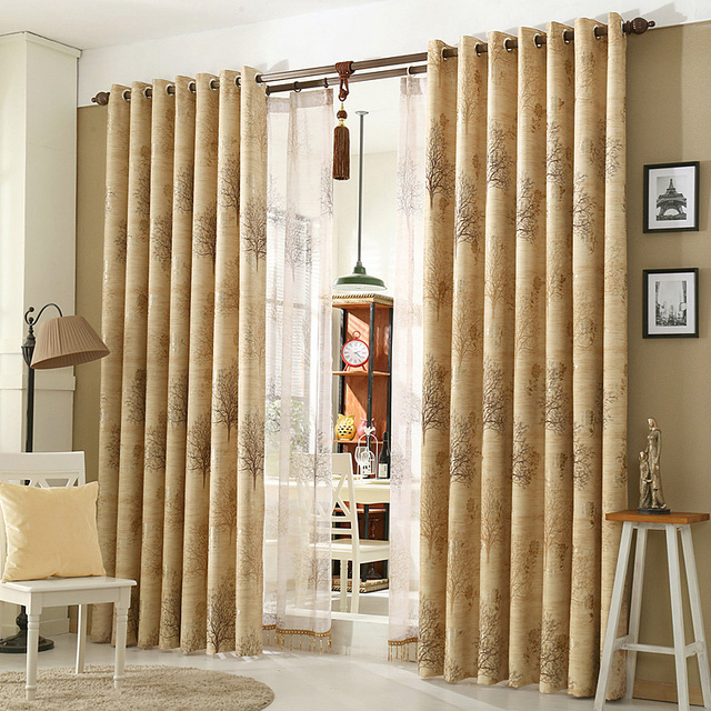 1piece Completed Bedroom Blackout Curtains, #Lau Yushulinfeng Modern  Cortinas Readymade European Classic Drapes For Living Room