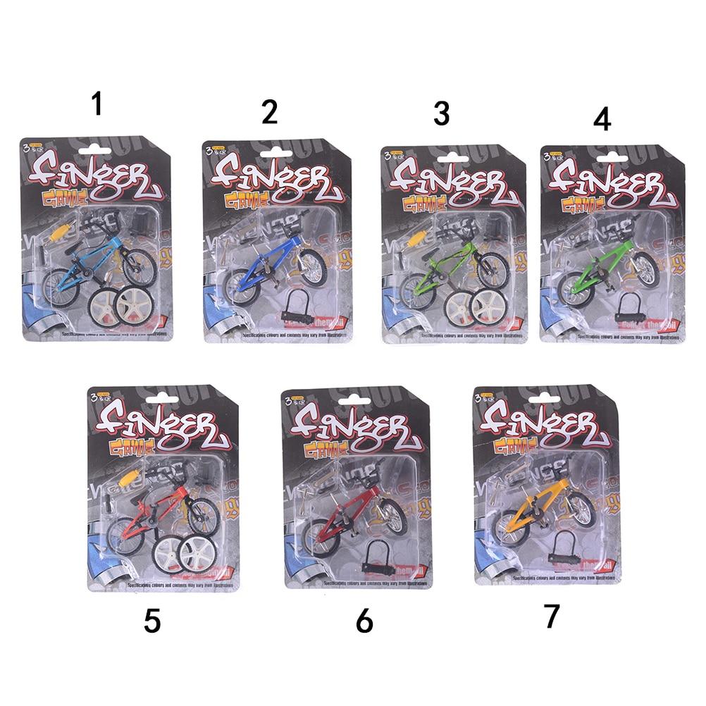 Mini Finger BMX Bicycle Flick Trix Finger Bikes Toys BMX Bicycle Model Bike  Gadgets Novelty Gag Toys 10.5cm*7cm