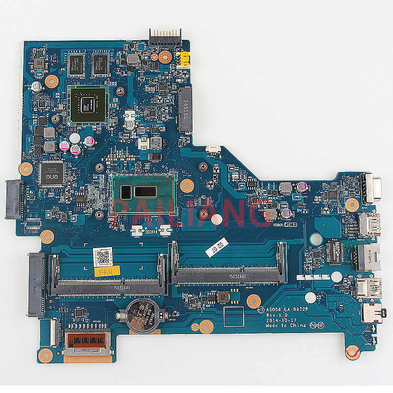 كمبيوتر محمول لوحة رئيسية لأجهزة HP بافيليون 15-R 250 G3 I5-5200U وحدة المعالجة المركزية الكمبيوتر اللوحة الرئيسية 797850-001 797850-501 ASO56 LA-B972P كامل tesed DDR3