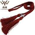 YOUWEL Ladies Hand-woven Thin Belts For Women Decorative Accessories Rope Belly Chain Women's Waist Rope Belt Tassel Belts Strap