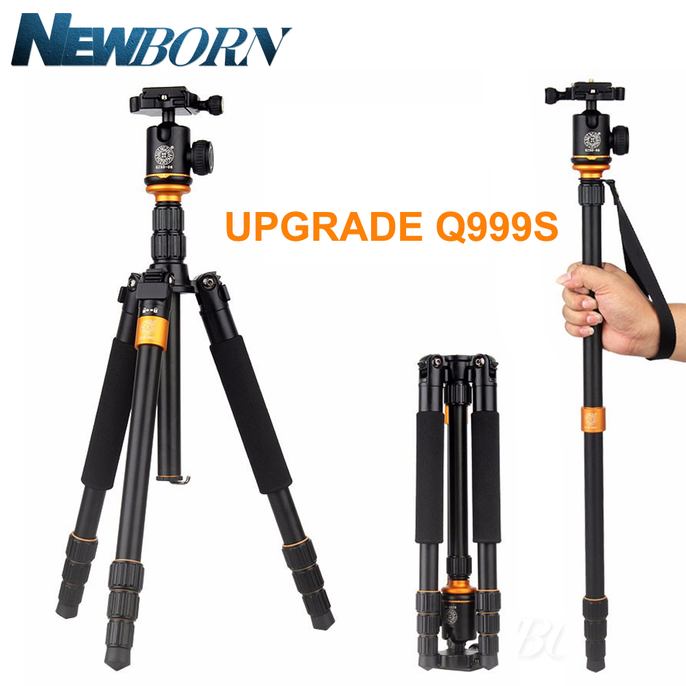 Upgrade Q999S Professional Photography Portable Aluminum Ball Head+Tripod To Monopod For Canon Nikon Sony DSLR Camera 2015 new upgrade q999s professional photography portable aluminum ball head tripod to monopod for canon nikon sony dslr camera