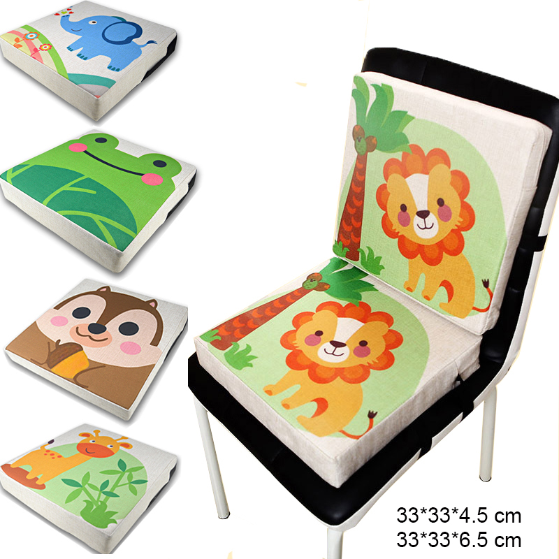 Portable Baby Safety Dining Chair Increase Pad Cushion 33x33x6.5 cm Thick Washable Toddler Feeding High Chair Booster Cushion(China)