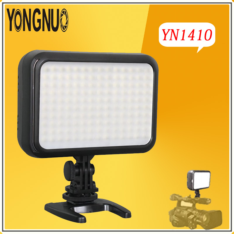 YONGNUO YN1410 Professional LED Studio Video Light Photography Light Adjustable Brightness for Canon Nikon DSLR Camera Camcorder 2018 yongnuo yn320 photo studio led panel video light with stand holder high brightness video light for canon nikon dslr camera