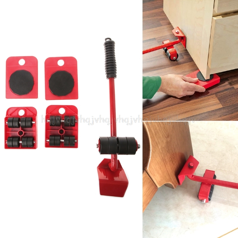 Confident 5pcs Furniture Transport Roller Set Removal Lifting Moving Tool Heavy Move House Jul04