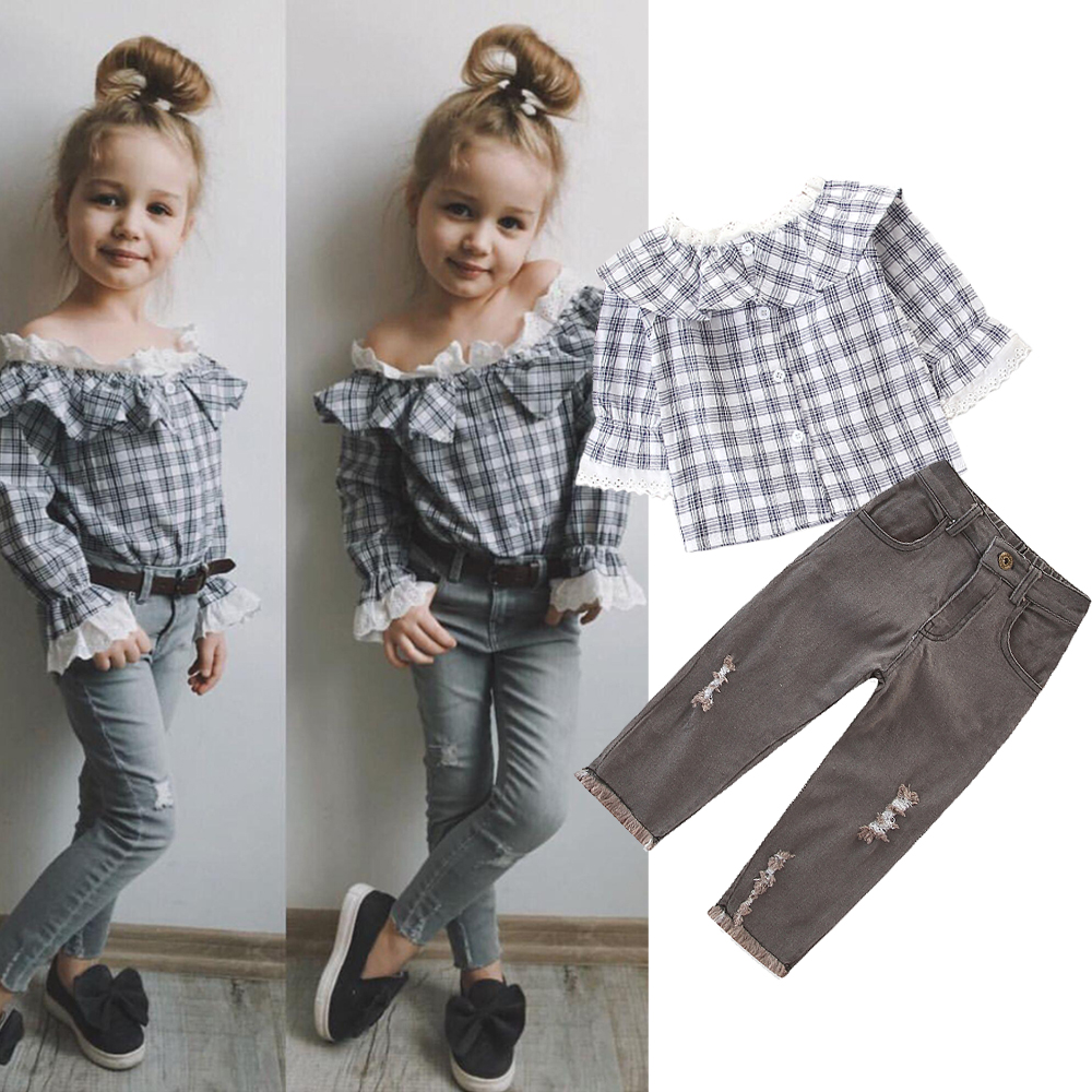 Child Baby Girls Clothes Outfits Butterfly Coat Cardigan Tops+Long Pants Set LA