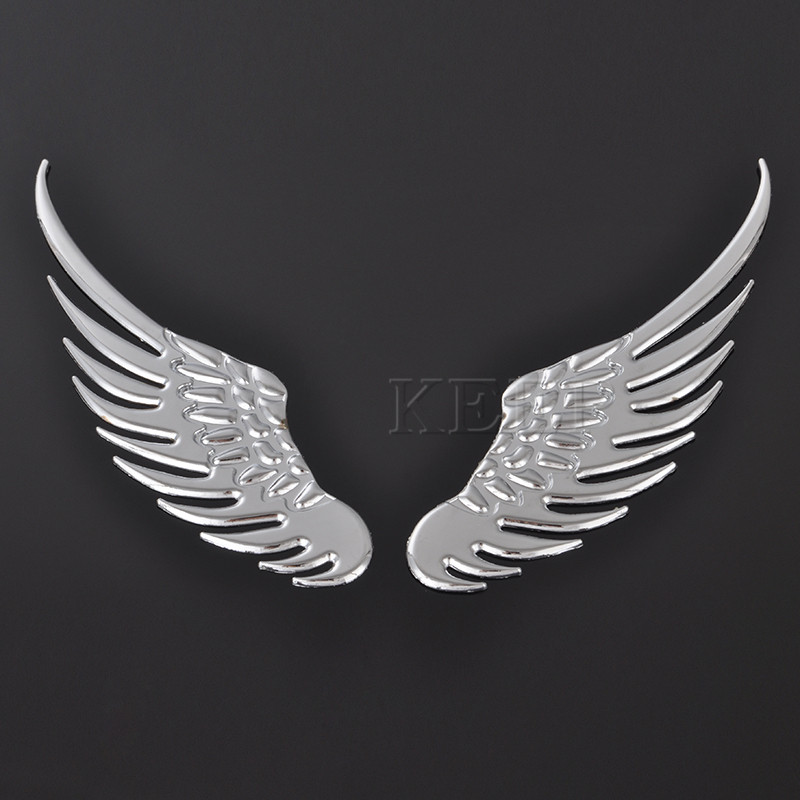1 Pair Fashion 3d Wings Car Sticker Auto Badge Emblem Decal For Bmw