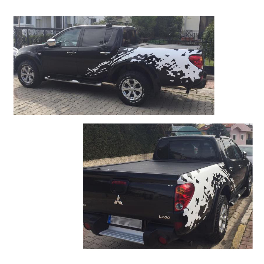 mudslinger body rear tail side graphic vinyl for MITSUBISHI L200 TRITON2006-2014 sticker for mitsubishi l200 kb