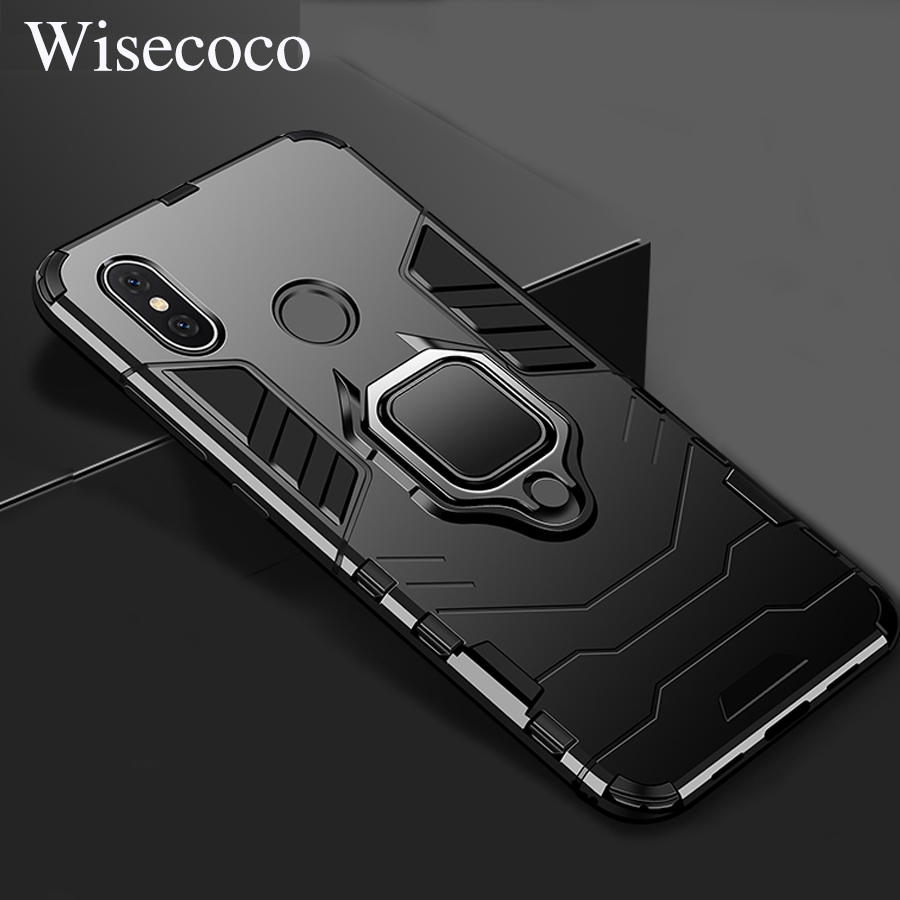 Magnetic Car Holder Ring Stand Hard Case for Xiaomi Mi 8 Se Max 3 2 Mix 2 2s 6x 5x A2 Lite 6x Redmi Note 4x 5 6 Pro Armor Cover image