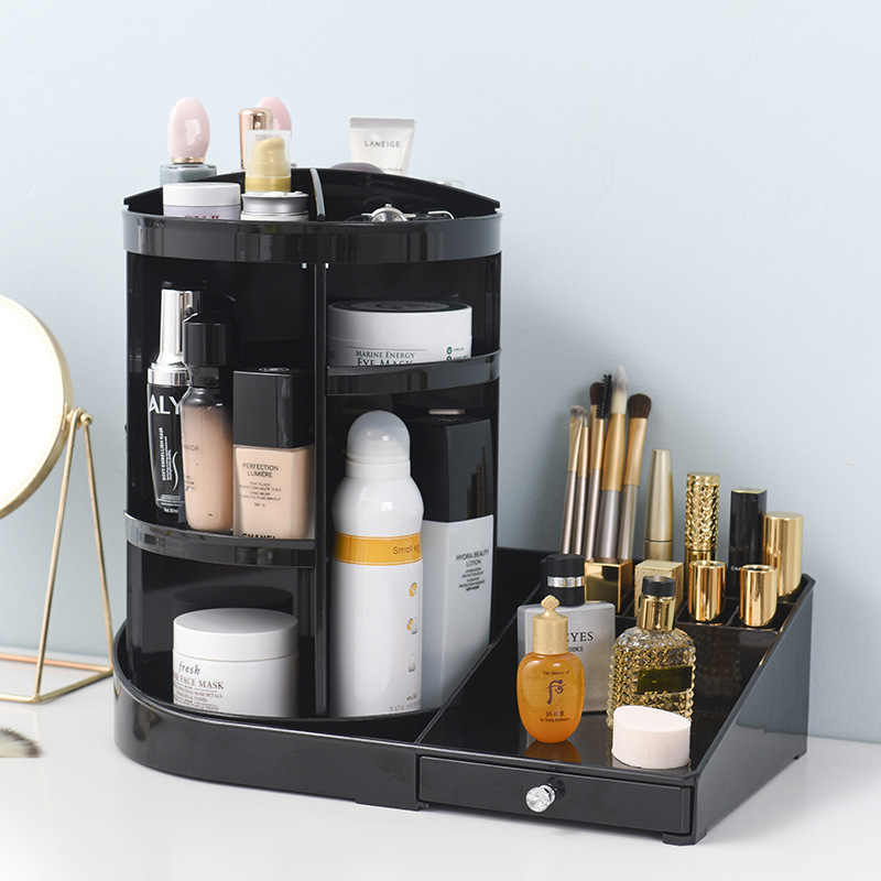 d4906fb6cfbe Detail Feedback Questions about 360 Degree Rotating Makeup Organizer ...