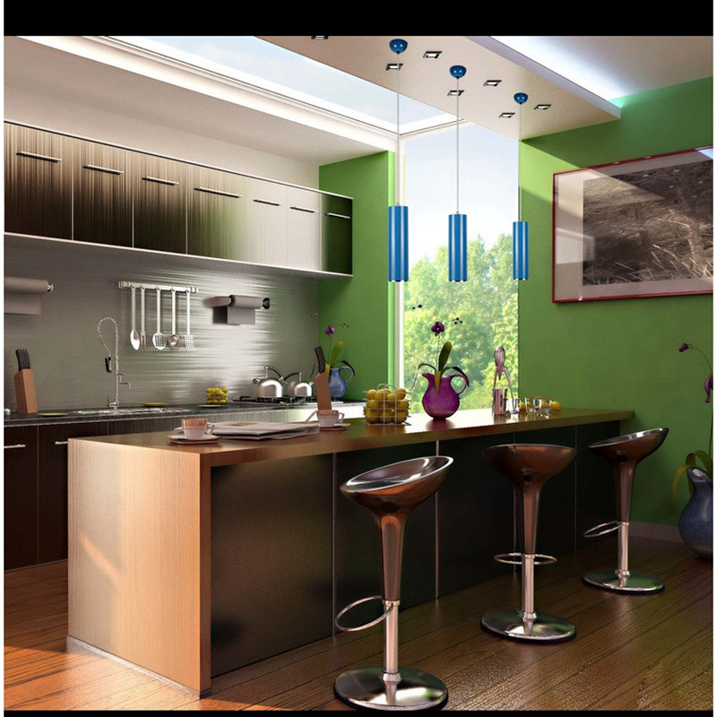 Lukloy Pendant Lamp Lights Kitchen Island Dining Room Bar Counter Decoration 8cm Cylinder Pipe Light In From