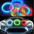 5 m EL luz de tira decorativa luzes interior do carro iluminação ambiente corpo retrofit guarnição interior diodo emissor de luz fria