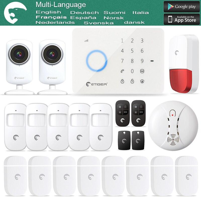 Etiger eTiger Burglar Alarm S3B GSM/SMS alarm system For Security+ Two IP Camera as same as Chuango G5