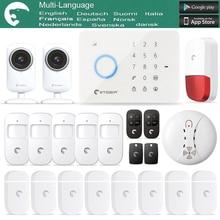 Etiger eTiger S3B de Alarma Antirrobo GSM/SMS sistema de alarma De Seguridad + Dos Cámara IP como iguales que Chuango G5