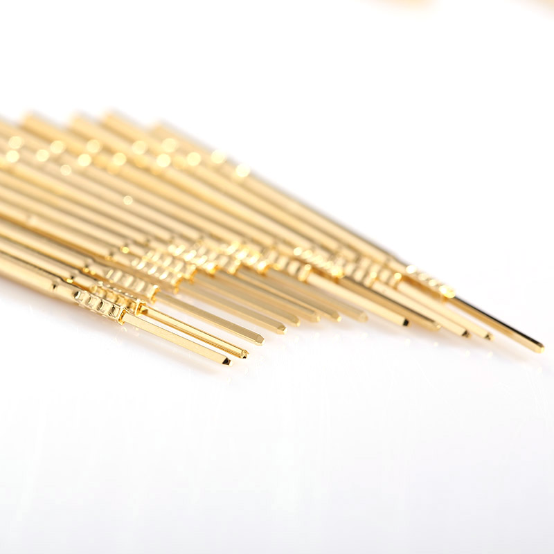 100pcs Spring Test Probe R100 4VW Length 38 3mm Brass Nickel Plated Test Probe Instrument Test of Circuit Boards in Springs from Home Improvement