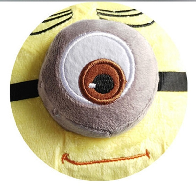 3D Winter Warm slippers Despicable Me Minion Stewart Figure Shoes Plush Toy Home Slipper One Size Doll ctx13