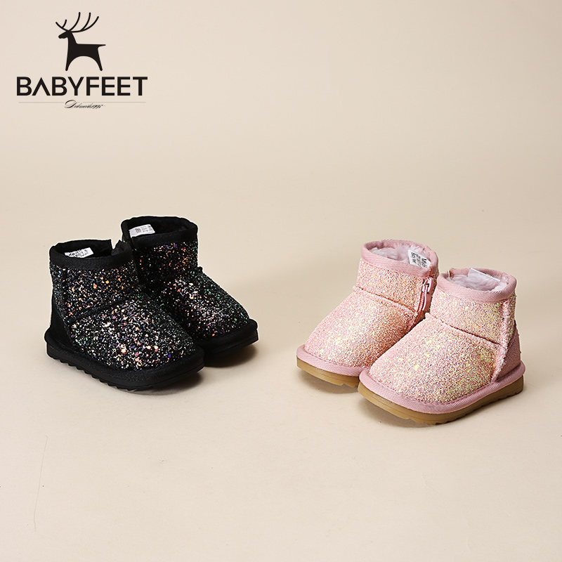 Winter Children sneakers Size 21 to size 30 enfant Ankle Booties girls velvet casual warm snow boots baby girl kids sports shoes